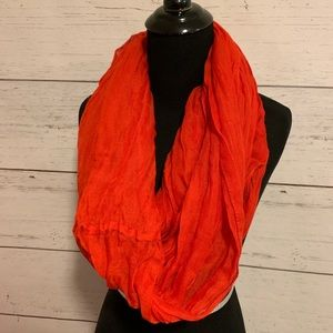 Accessories - Red infinity scarf